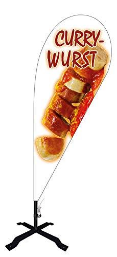 Beachflag Currywurst -ca. 240 cm hoch- BMF051-K