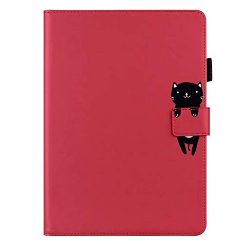 Case for iPad Mini 5 / Mini 4 / Mini 3 / Mini 2 / Mini Case, Premium Slim PU Leather Cartoon Animal Folio Tablet Case Smart Cover Shockproof Multi-Stand with Auto Wake/Sleep Back Protective Shell red