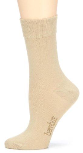 Nur Die Damen Socken 496842/Da Bambus Socke, Gr. 39-42, beige (leinen 615)