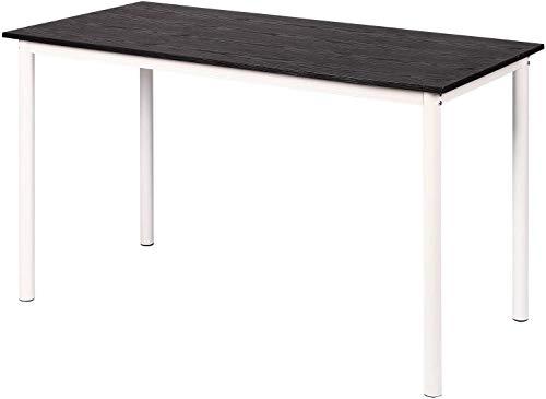 Relaxbx Zusammenklappbarer Computertisch Schreibtisch Arbeitszimmer Schreibtisch Klappbarer PC-Tisch für das Heimbüro, Schwarz 120 x 60 (L x B) 73 (H)