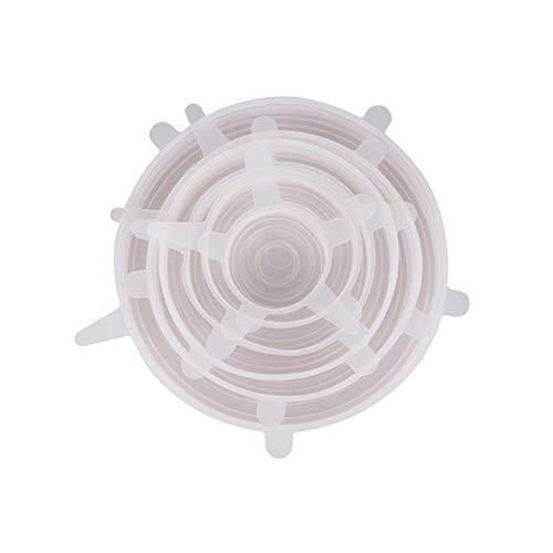 Cubiertas de silicona para alimentos 6pcs / lot de silicona estiramiento tapas universal de Alimentos de la forma cónica de la tapa Tazón Pot abrigo del alimento tapón de goma cubierta de silicona for