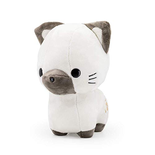 Bellzi Siamese Cat Cute Stuffed Animal Plush Toy - Adorable Brown and White Pet Kitty Plushies and Gifts - Perfect Present for Kids, Babies, Toddlers - Sami