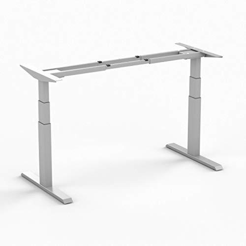 Worktrainer Elektrischer Sitz-Steh-Schreibtisch Steelforce 670 (Silber Frame/Ohne Arbeitsplatte)