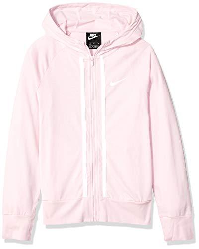 NIKE G NSW FZ Jersey Sudadera, Niñas, Pink Foam/White, L