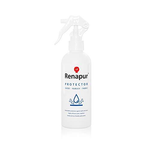 Renapur Protector para Ante y Tela 250ml: Impermeabiliza y protege el ante, nobuck, tela, algodón, zapatos, zapatillas, botas y mucho más