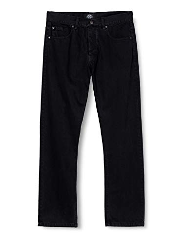 Dickies Herren Straight Leg Jeanshose Michigan, Gr. W36/L32 (Herstellergröße: 36R), Schwarz (Black BK)
