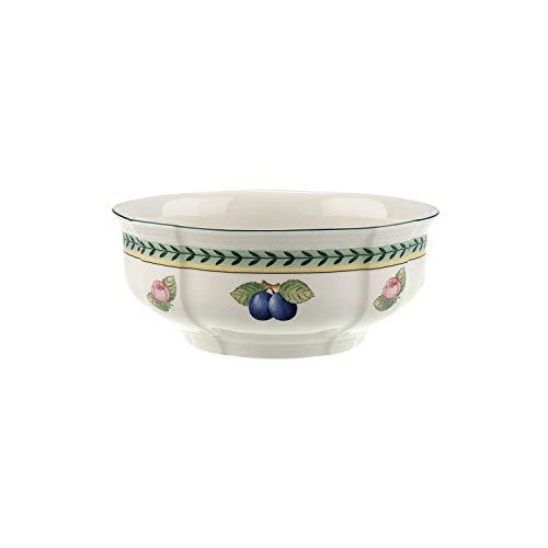 Villeroy & Boch French Garden Fleurence Plat creux rond, Porcelaine Premium, Blanc/Multicolore