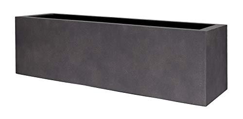 VAPLANTO® Pflanzkübel Box 60 Espresso Anthrazit Rechteckig * 60 x 20 x 20 cm * 10 Jahre Garantie