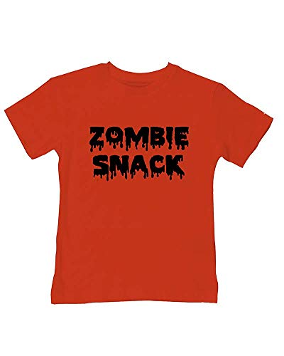 Ice-Tees T-shirt en coton doux avec inscription « Food for the Undead » - Rouge - 2-3 ans
