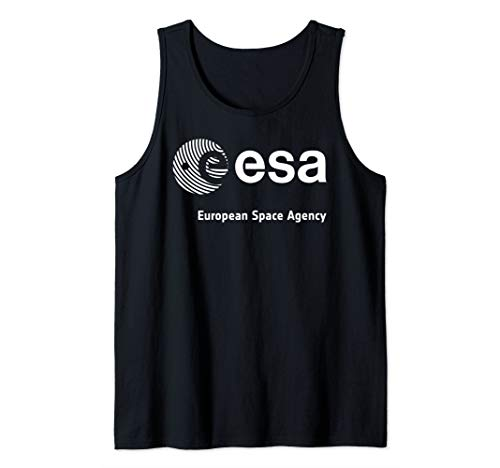 ESA Shirt, European Space Agency Schrift Fingerprint Logo Tank Top