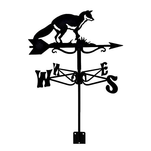 ZHANGCHI Vane del clima al aire libre Ornamento de animales Herramienta de medición de la meteora de la herramienta de acero inoxidable Indicador de dirección del viento con recubrimiento antioxidante