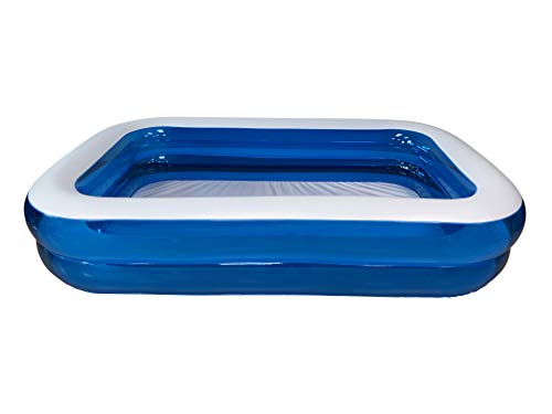 KG KitGarden – Piscina Hinchable Rectangular 660 litros, 260x175x51cm, Azul/Transparente, Pool 262TAZ