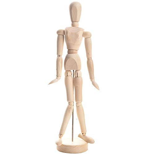 DishyKooker 4,5-Zoll- / 8-Zoll- / 12-Zoll-Puppenfigur Toy Handmade Wooden Art Sketch Model Painting Supplies 8 Zoll 20 cm articulos de producto