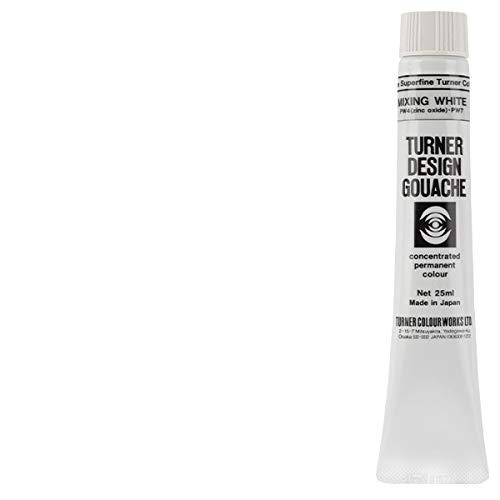 Turner Colour Works Design Gouache Premier Opaque Watercolor Paint - 25 ml Tube - Mixing White