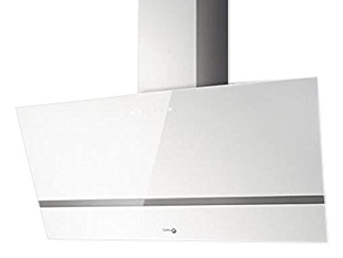 Hotte decorative murale Turboair PRF0114578 - Hotte aspirante Pan incliné - largeur 90 cm - Débit d'air maximum (en m3/h) : 713 - Niveau sonore Décibel mini. / maxi. (en dBA) : 60 / 67