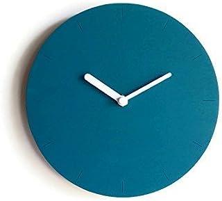 28cm Piccolo orologio da muro in legno tondo silenzioso per camera letto colorato come verde petrolio Particolari orologi ...
