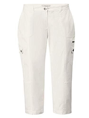 Janet & Joyce Damen 7/8 Cargo-Hose mit Paper-Touch Weiß 42 Baumwolle