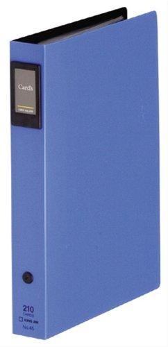 キングジム カードホルダー「カーズ」差し替え式青 45アオ