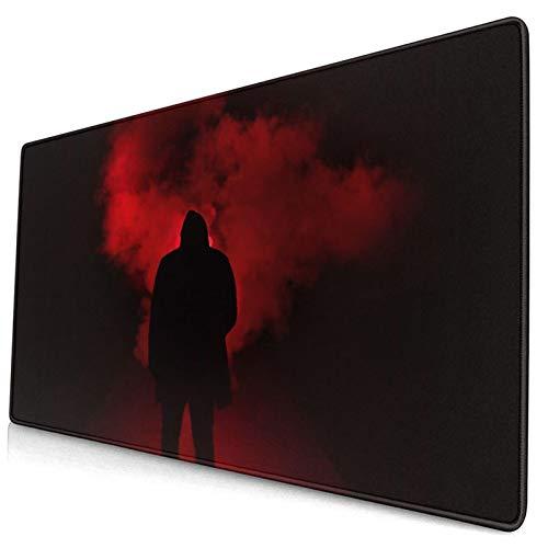 LASINSU Alfombrilla Gaming,Fotografía Oscuro Rojo Negro Fon