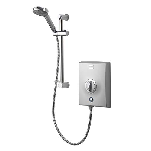 Aqualisa Quartz Electric shower with adjustable head, Chrome, 10.5kW