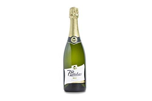 Cava Brut - 7 Búhos - 1 botella de 750 ml - Vino espumoso vigoroso - Cava sutilmente afrutada - Uvas macabeo y parellada. Metodo Tradicional Champenoise. Sparkling wine. 88 Puntos Guía Peñin