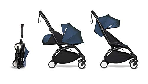 Learn More About BABYZEN YOYO2 Complete 0+ and 6+ Stroller - Black Frame with Air France Blue Fabric...