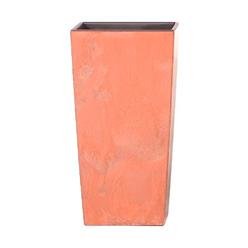 Maceta Alta 91,5 L Prosperplast Urbi Square Effect de plástico con depósito en Color Terracota, 75...