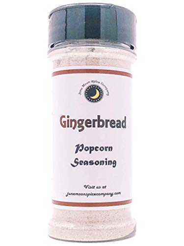 Premium | GINGERBREAD Popcorn Seasoning | Large Shaker | Calorie Free | Fat Free | Saturated Fat Free | Cholesterol Free | Sodium Free | Low Sugar