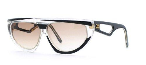 Claudia Carlotti Damen Sonnenbrille Schwarz Black Clear