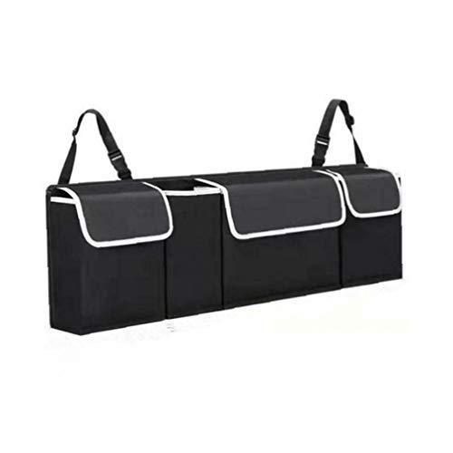 Adore store Auto-Boot-Organizer Große Aufbewahrungstasche Tasche Back Seat Hanger Tidy Travel hängend, 90 * 12 * 25cm, Schwarz