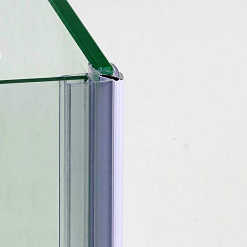 220cm - COPPIA di guarnizione magnetica/calamita per box doccia ad ANGOLO PER VETRO 6mm-GMVA6/8