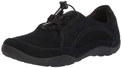 Clarks Women's Haley Rhea Sneaker, Black Suede, 090 M US