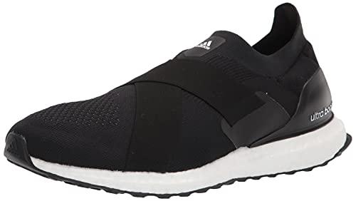 adidas Women's Ultraboost Slip On DNA Running Shoe, Black/Black/Acid Orange, 9.5
