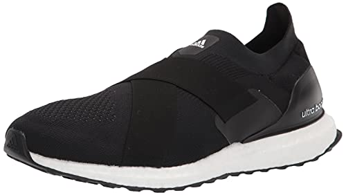 adidas Women's Ultraboost Slip On DNA Running Shoe, Black/Black/Acid Orange, 8