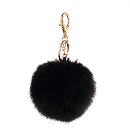 Schlüsselanhänger plüsch Ball Mode Parfümflasche Plüsch-Kugel Pompom Charm Tasche Anhänger Elegant Weich Schlüsselring bommel Keychain Handtaschenanhänger Dekor Autoschlüssel-Anhänger (# 2)