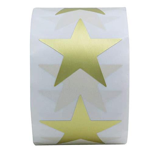 BLOUR 50-500 Uds.Etiquetas Adhesivas en Forma de Estrella de Pegatinas Doradas Sellar Etiquetas Scrapbooking para Paquete y decoración de Boda Papel Dorado