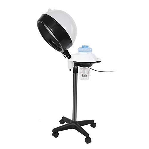 Secador Casco Profesional para Salon Spa, Vapor encapuchado con soporte para teñir el cabello y acondicionamiento permanente(Blanco)