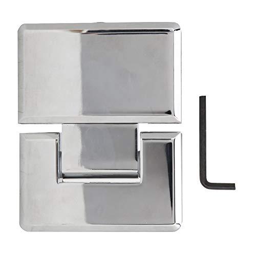 Badezimmerscharnier Duschtürscharnier Rahmenlose Tür Glas Zinklegierung Scharnier Torklemme Poliert 180 ° Möbelzubehör
