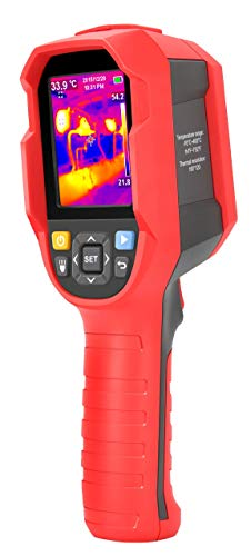 RockyMars UTi165A Compact Thermal Imaging Camera, 160x120 IR Resolution, -10 Degree C ~ +400 Degree C Temperature Range, 16G Micro SD Card, Soft Carrying Case