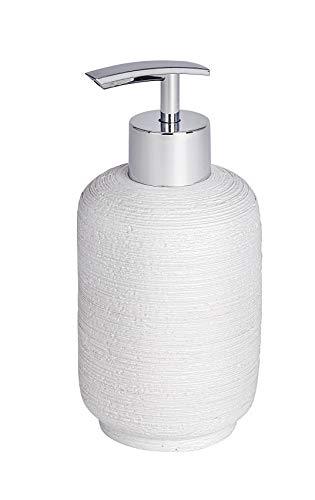 Dispenser di sapone Wenko Goa Neo, capacità 0,3l, in poliresina, Poliresina, Bianco, 7.5 x 7.5 x 16 cm