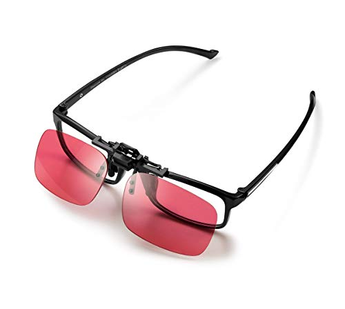 Pilestone GM-3 Color Blind Corrective Glasses for Red-Green Blindness (Color Blind Glasses)-Clip on, Same Lenses as GM-2