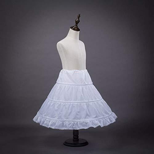 Mädchen Petticoat,3 Reifen Reifrock Krinoline Röcke & Skorts Petticoat Tutu Rock Kinder Unterrock Brautkleid für Brautjungfer Hochzeitsfeier 3-15 Jahre