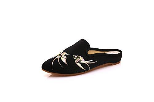 AWSAYS 2019 Frau Kleine Schluckte Spitze Hausschuhe Bestickte Schuhe FrüHlings- Und Sommersandalen Und Hausschuhe Im Chinesischen Stil