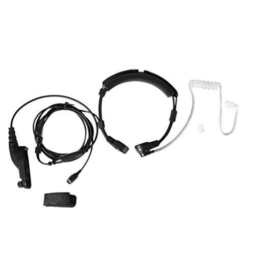 HETUI Control de Garganta Walkie Talkie para Motorola XIR P8260 / 8268/6550 / P8200 / P8208 (Negro)