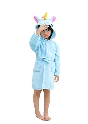 Z-Chen Bata para niños - Forma de Unicornio, Azul, 2-3 Años, (Tamaño de Manufactura 85/100)
