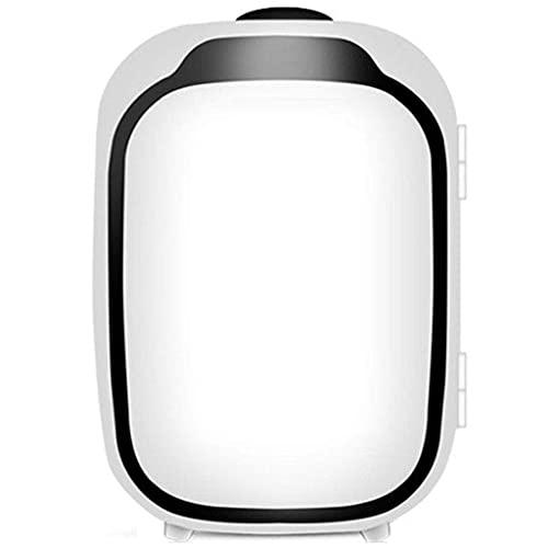 HRRF Mini Nevera portátil, refrigerante 6L y calefacción para el hogar pequeño refrigerador Adecuado para el desprovistivo de la Oficina-Rosa