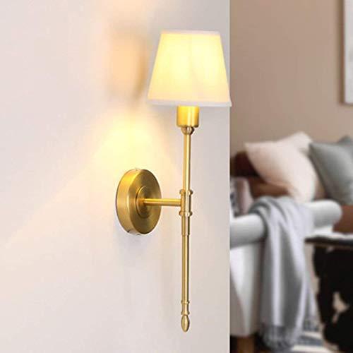 noulerd Self-Stallation Applique Lampe de Chevet Copper House Toutes Les lumières Devant Le Miroir rétro Simple Lounge Allées Lampes Pastoral Copper,Or