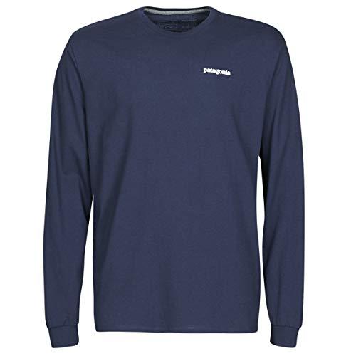 Patagonia M's L/S P-6 Logo Responsibili-Tee T-Shirt à Manches Longues pour Homme L Bleu Marine Classique