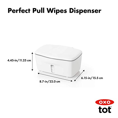 OXO Tot Perfect Pull Wipes Dispenser, Gray