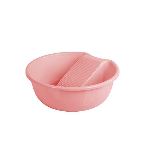 Tvättbräda handfat för handtvätt kläder och små delikata artiklar plast halkfri tvätthandfat tvättfat tvättfat tvättfat (rosa)